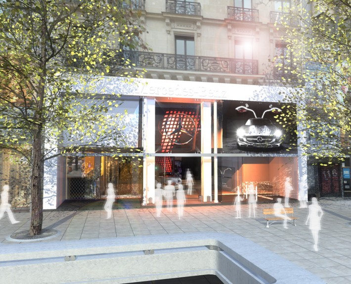 MERCEDES - Animation ShowRoom - 2011 - Agence : HavasEvent